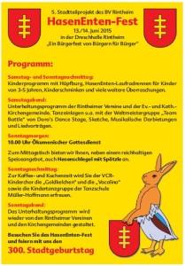 HasenEntenfest-Programm